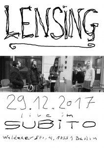 Subito Konzert poster 2017